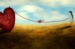 Chica unida a un corazón representando que no toda distancia es olvido
