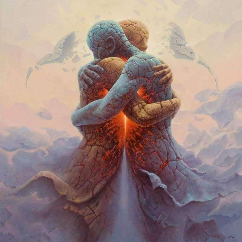 Dos personas abrazándose simbolizando la amabilidad