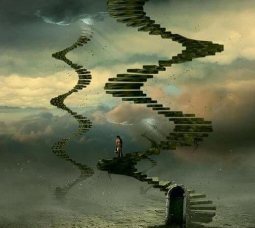 escaleras en el aire