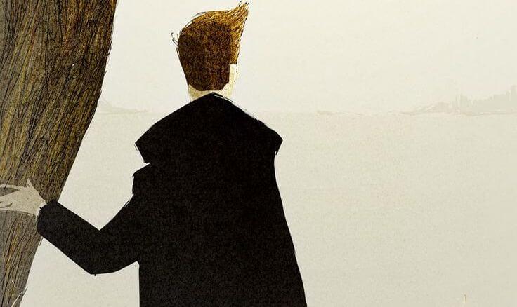 hombre con chaqueta negra pensando en hacer el bien