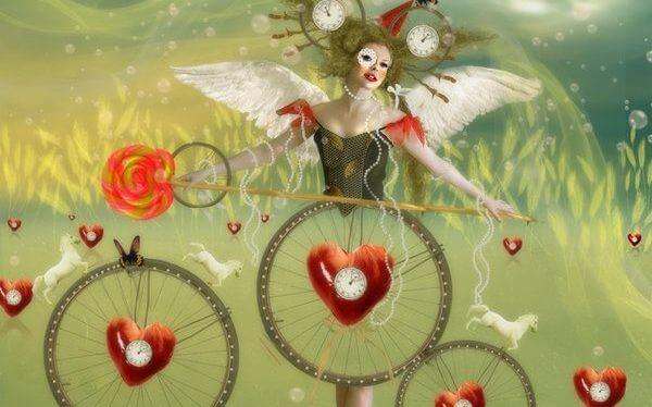 mujer con bicicleta diciendo yo soy yo