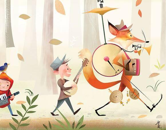 ilustración musical afición