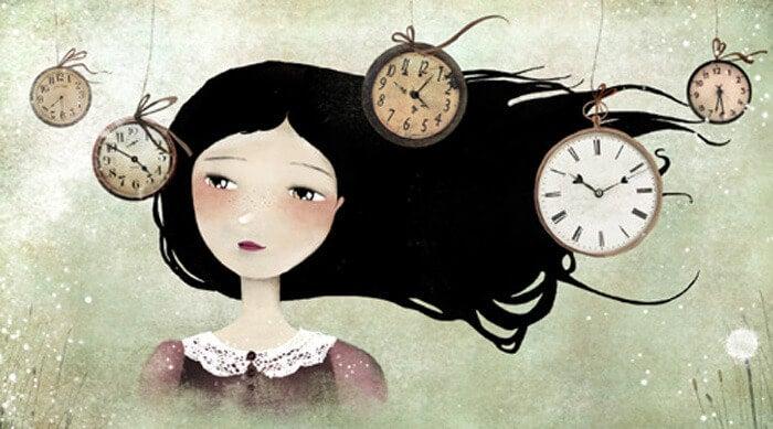 mujer mirando un reloj sabiendo que todo es posible (1)