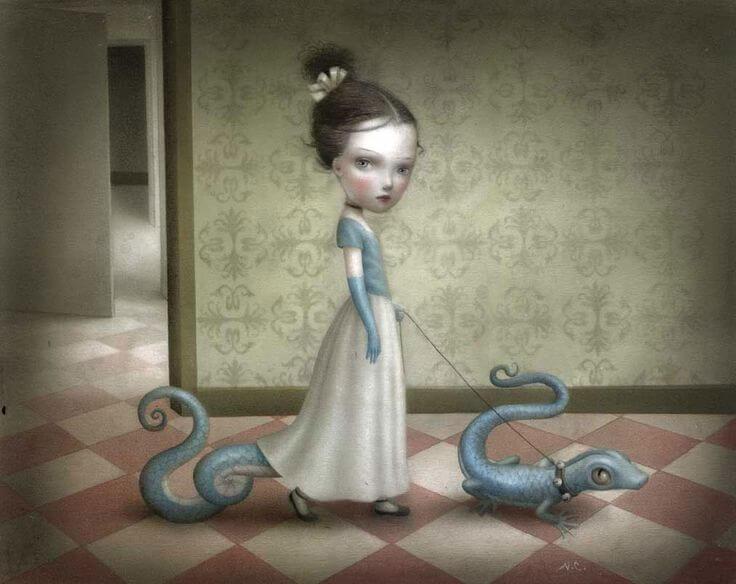 niña con dragones