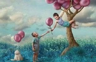 Niños con globo representando predicar con el ejemplo