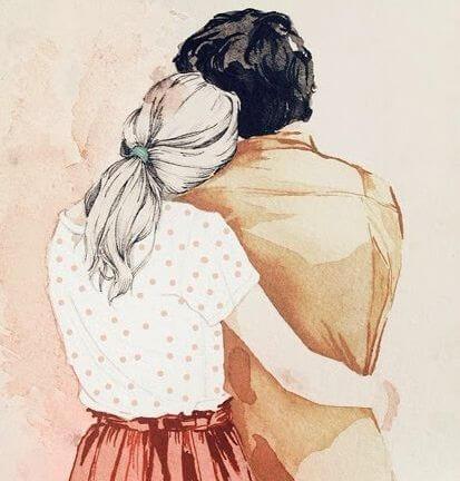 vivir en pareja a través de los abrazos