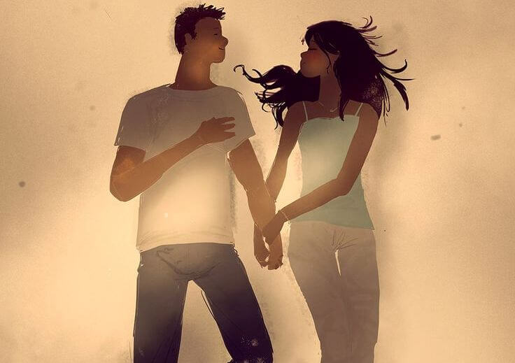 pareja disfrutando de la vida