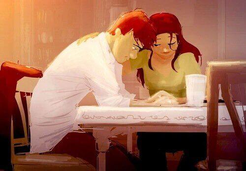 pareja hablando mostrando amor verdadero