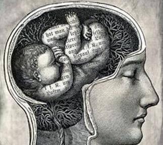 Cerebro de una persona con forma de niño