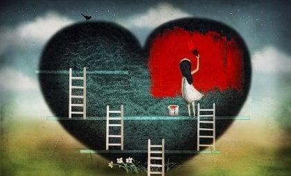 vivir con el corazón roto es respirar a pedazos