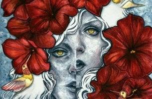 Cara de mujer deformada