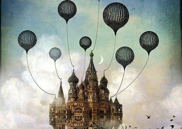castillo suspendido en el aire
