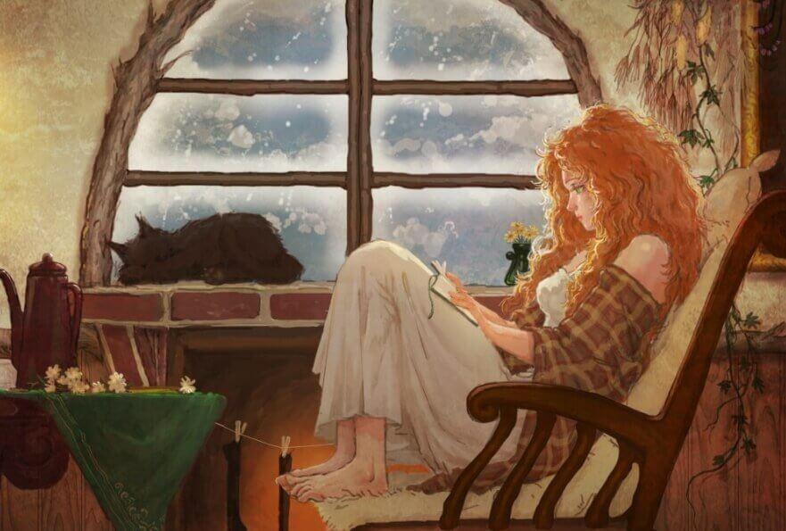 Chica leyendo para combatir la rutina