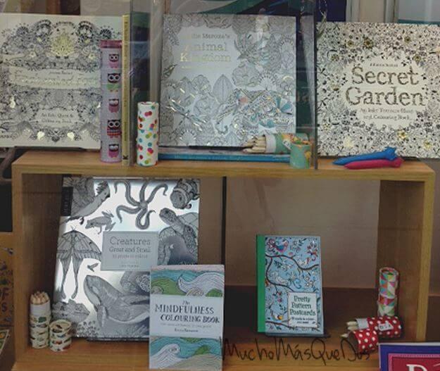Selección de libros para pintar de colores el estrés