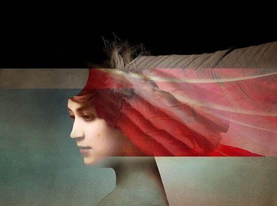 Mujer mostrando sus imperfecciones
