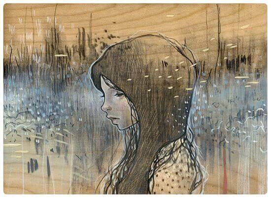 Mujer representando el silencio