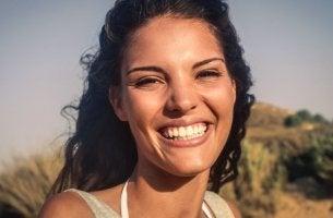 Mujer risa