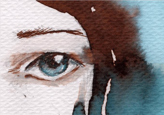 Ojos azul triste