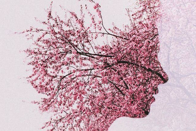 Perfil con flores