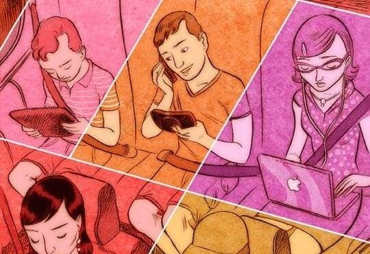 personas con tecnologia