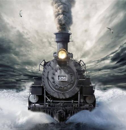 tren avanzando