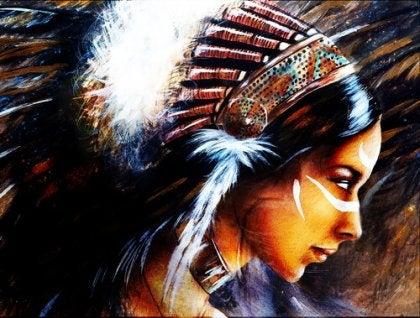 La pintura del miedo es la marca del guerrero