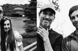 Steve Jobs con sus hijos