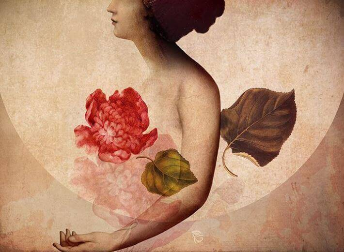 Corazón de flor