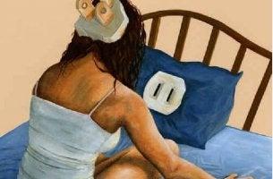 Dormir es como enchufarse energía imagen representa el sueño