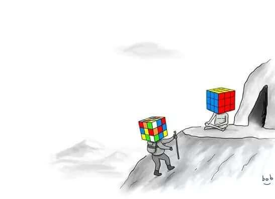 Meditazione con il cubo di rubik