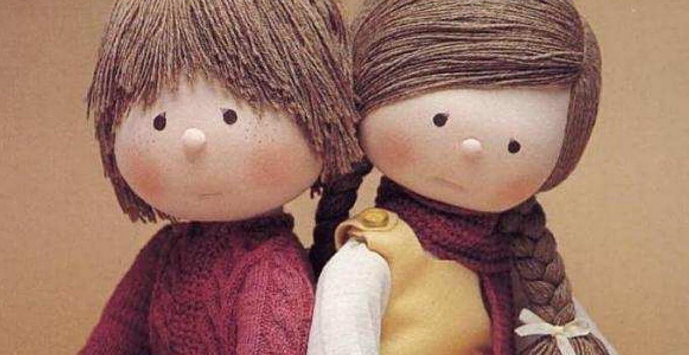 muñecas-de-trapo representando las manualidades para las emociones