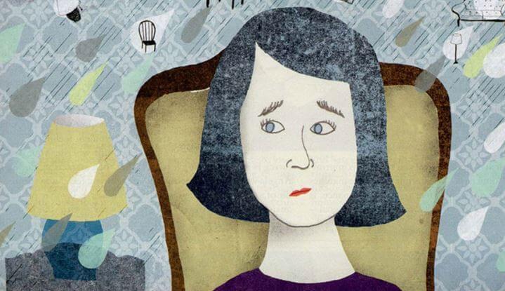 Una mujer con cara de preocupación