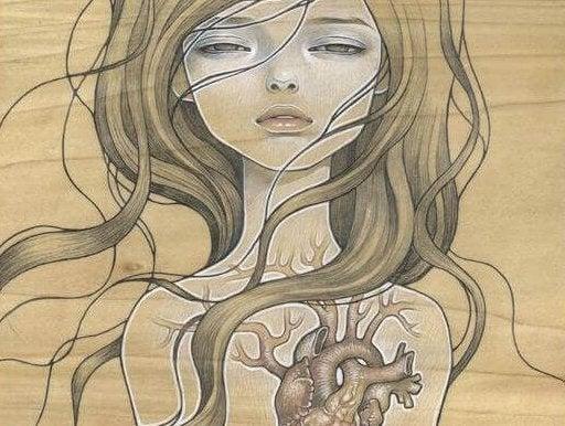 Mujer con corazón