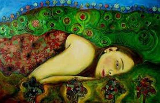 Mujer tumbada