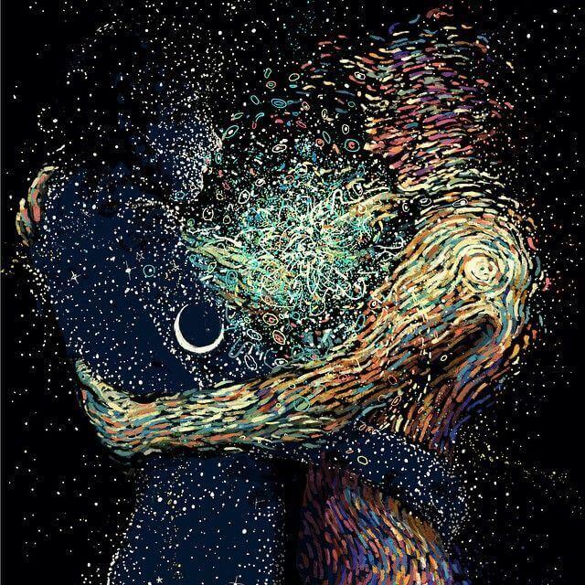 Sombras de la unión de las almas de dos personas