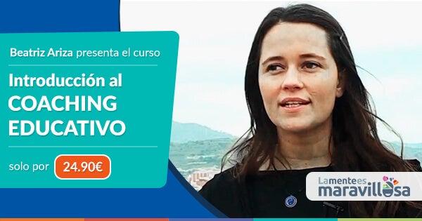 Banner del curso de coaching educativo de Beatriz Ariza