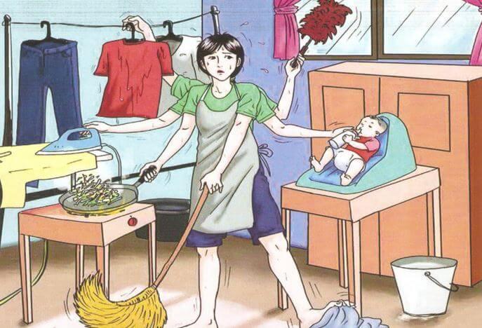 Ama de casa estresada