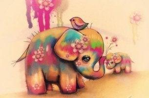 Elefantes representando el mejor regalo