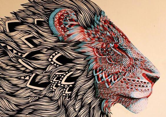 ilustracion de un león
