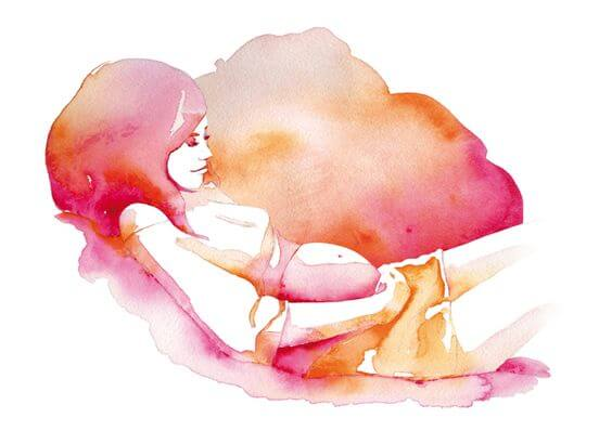 ilustración de mujer representando el embarazo