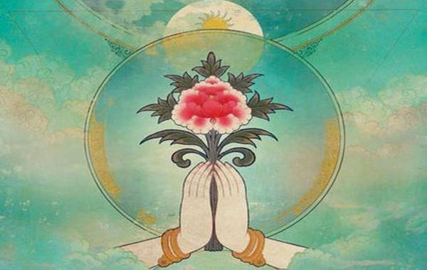 mani che prendono un fiore che rappresenta le leggi del karma