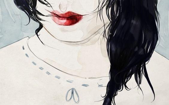 mujer-labios-rojos