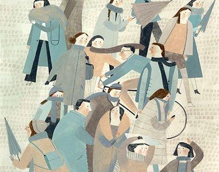 Muchas personas en la calle