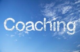 Nubes con forma de la palabra coaching