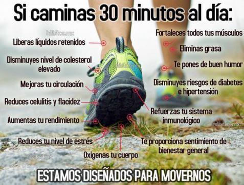 Beneficios de caminar durante 30 minutos al día