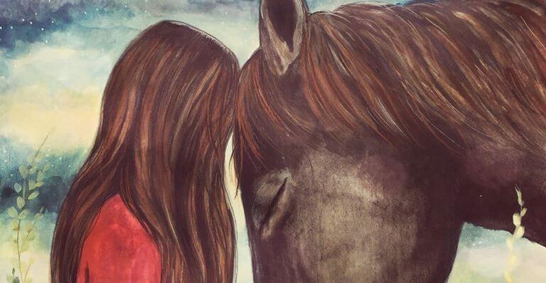 chica con caballo practicando el respeto a su animal