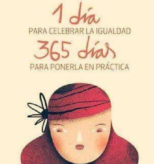 Día de la mujer en un cartel