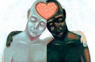 Dos personas altamente empáticas unidas por la cabeza
