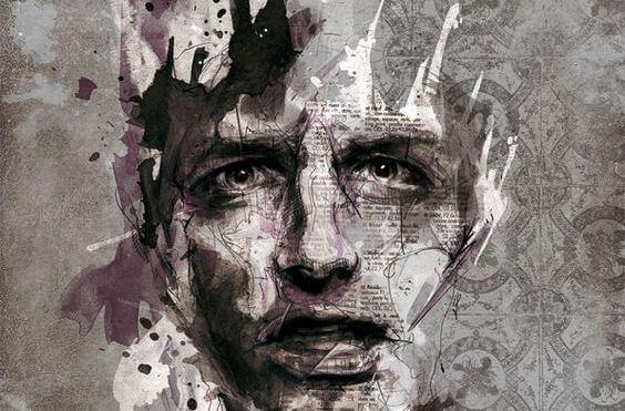 ilustración masculina representando el efecto Lucifer