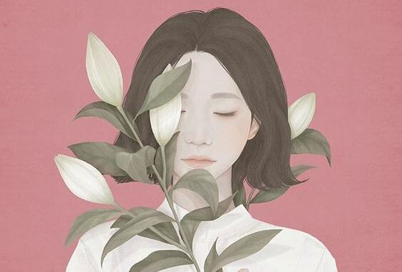 mujer con naturaleza